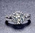 Горячая 2 карат СОНА имитация кольца с бриллиантами для женщин, кольцо стерлингового серебра, прополка кольцо, Бесплатная Доставка