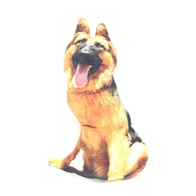 Asiento de perro de felpa CAMMITEVER Wolfhound, cojín trasero, juguetes para niños, almohada 3D, cojín para la decoración del coche del hogar