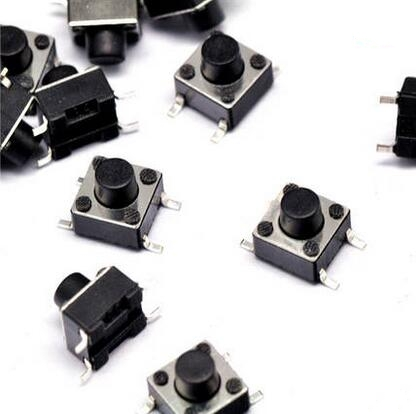 Glyduino 6*6*5 Tactile Push Button Switch Key Touch Micro Push Button Switch DIP Vertical 4Pin 10 PCS/1 Lot