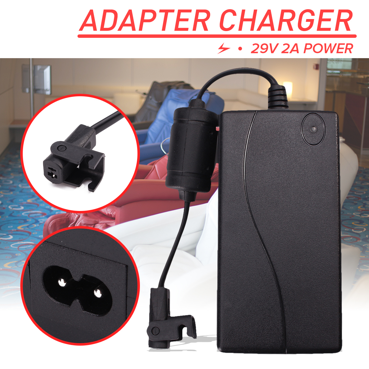 Electric Recliner Sofa Chair Adapter Transformer Power Supply 29V //DC 2PIN