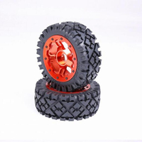 Aluminum alloy front wheel hub with wasteland tires and waterproof liner sets for 1/5 rc hpi racing 5B remote control toys truck
