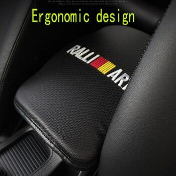 Lederen ST Racing Auto Embleem antislip Armsteun Doos Matten Pad Voor Ford Focus 2 3 1 Mondeo Ecosport kuga Mk4 Mustang Mk3 Fusio