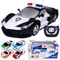 Высокое Качество Дистанционного Управления Автомобилей 1:24 Модель 2CH 2 Канала RC Автомобиль полиции Для Детей Любимые Подарки Розничные Игрушки Для дети