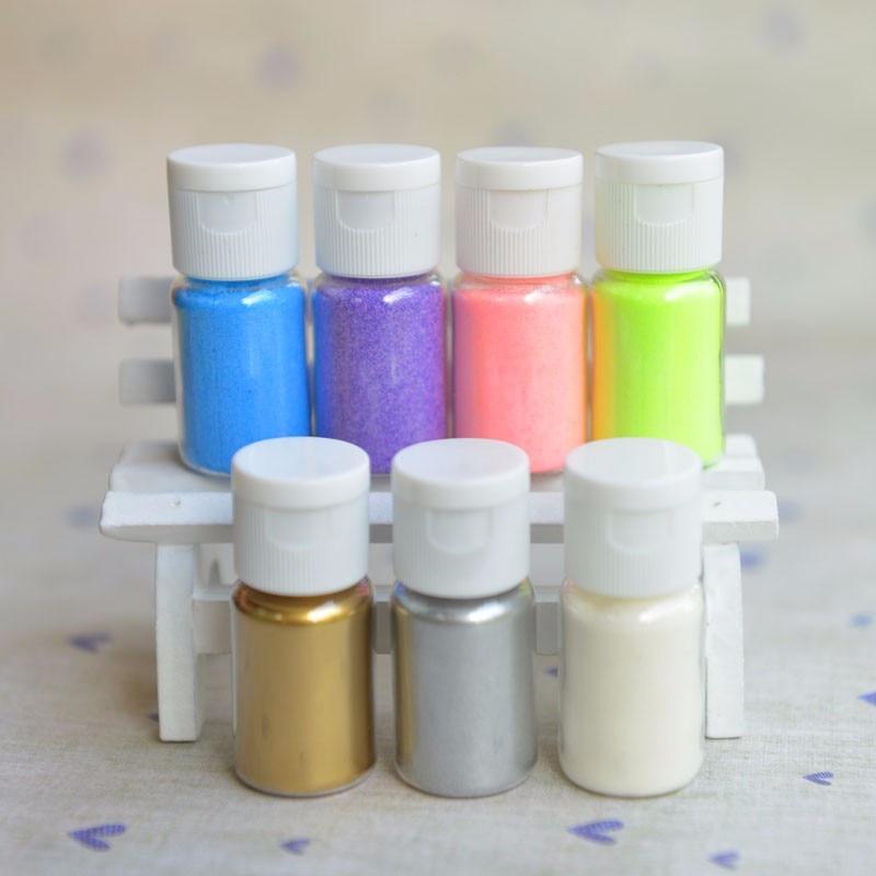 DIY Embossing Powder Metallic Paint Shiny Gold Silver 10ml