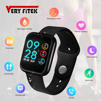 VERYFiTEK P70 Smart Watch Blood Pressure Heart Rate Monitor IP68 Fitness Bracelet Watch Women Men Smartwatch for IOS Android - DISCOUNT ITEM  30% OFF All Category