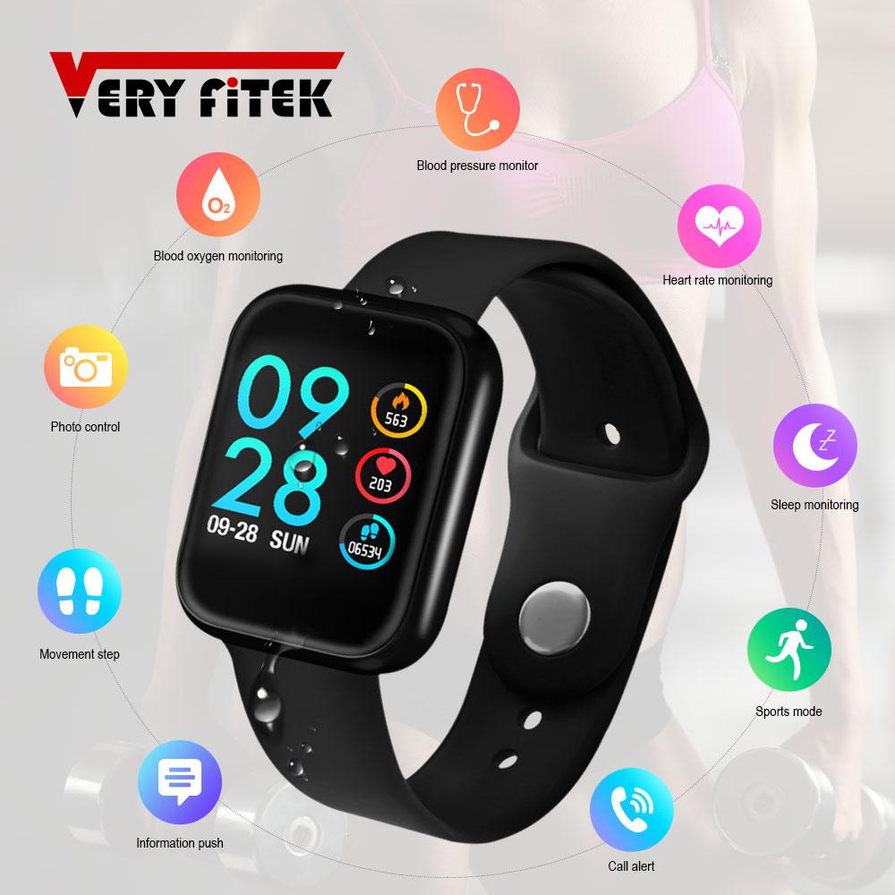 VERYFiTEK P70 Smart Uhr Blutdruck Herz Rate Monitor IP68 Fitness Armband Uhr Frauen Männer Smartwatch für IOS Android