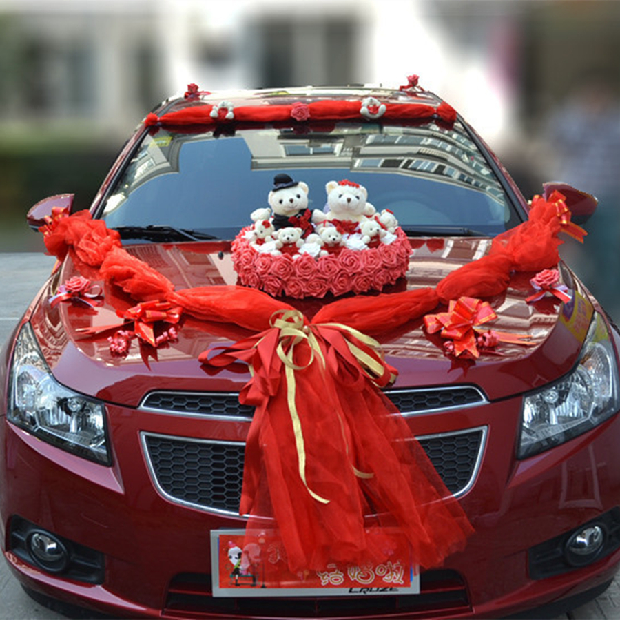 A+++Luxury Car flower design decoration kit wedding car decoration ...