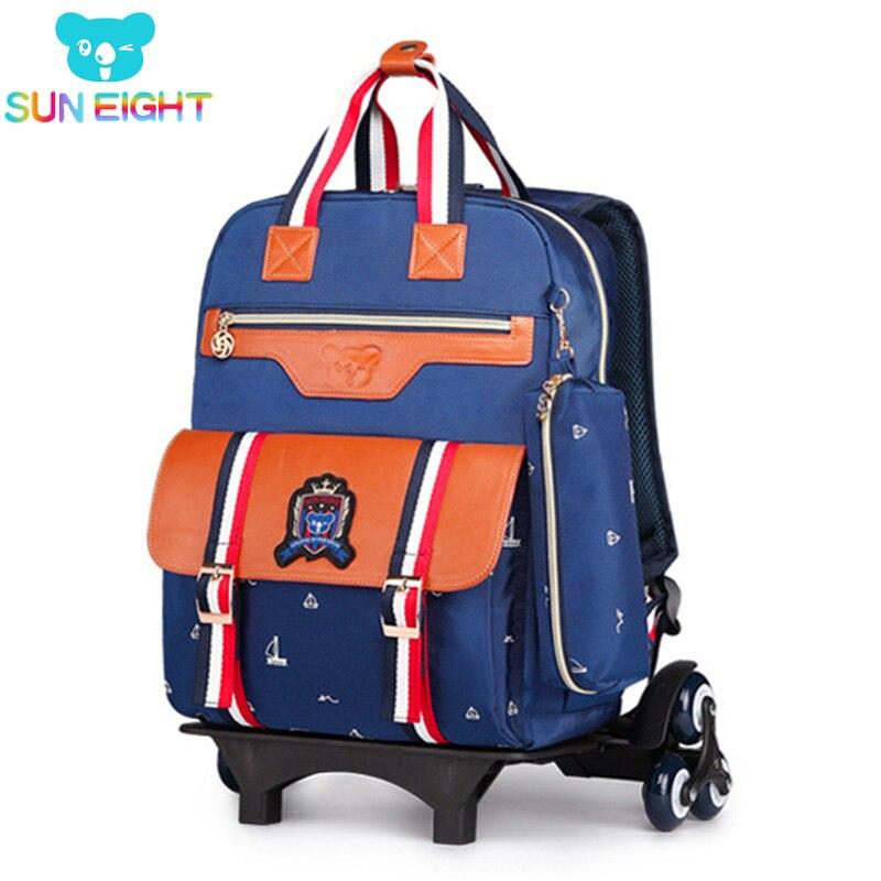 Sac à dos pour enfants avec roues sacs à dos à roulettes sac d'école enfants sacs d'école chariot-in Sacs d'école from Baggages et sacs    1