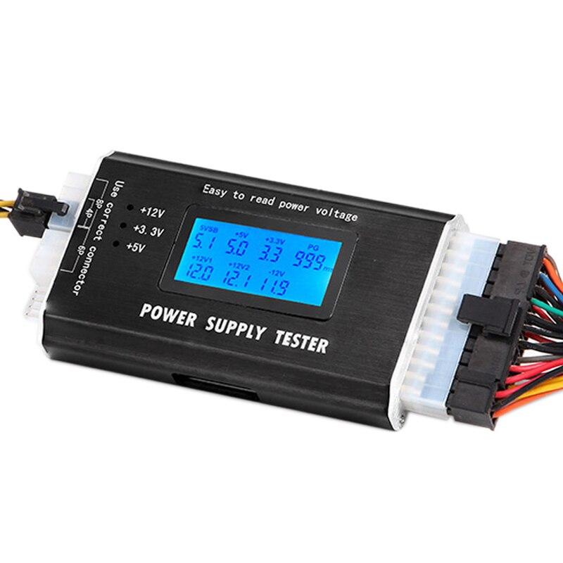 PC Ordinateur pour Anode Cathode 12 V 5 V 3.3 V 20/24 Broches PSU ATX SATA HDD Testeur D'alimentation LED Indication D'essai De L'outil De Diagnostic