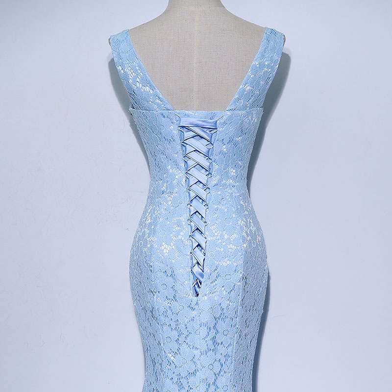 Lace Mama rochii de mireasa Beads Crystal Long Rochie femei Rochie de - Rochii de seară de nuntă - Fotografie 6