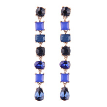 Women's Stylish Dangle Earrings with Colorful Rhinestones