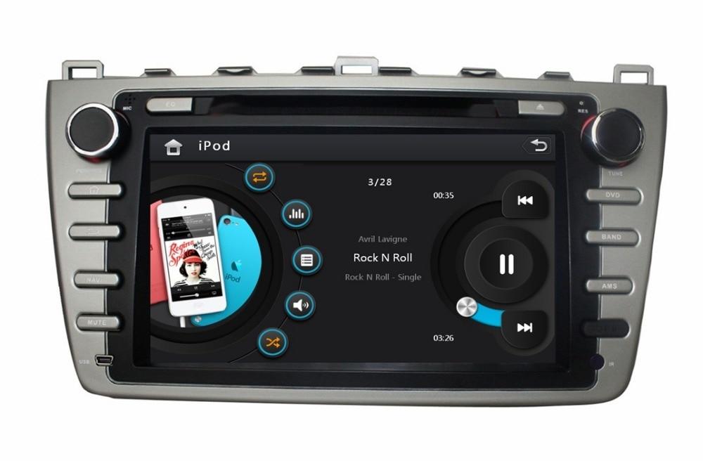 2 din 8 car dvd radio gps navigation for mazda 6 2008 2009 2010 2011 2012 with bluetooth ipod. Black Bedroom Furniture Sets. Home Design Ideas