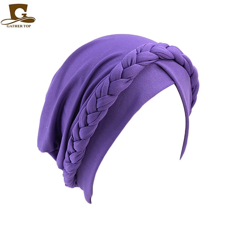 Durag Bandana Unisex Hair Black Head Band Chemo Cover Tie Wrap Cap Fashion