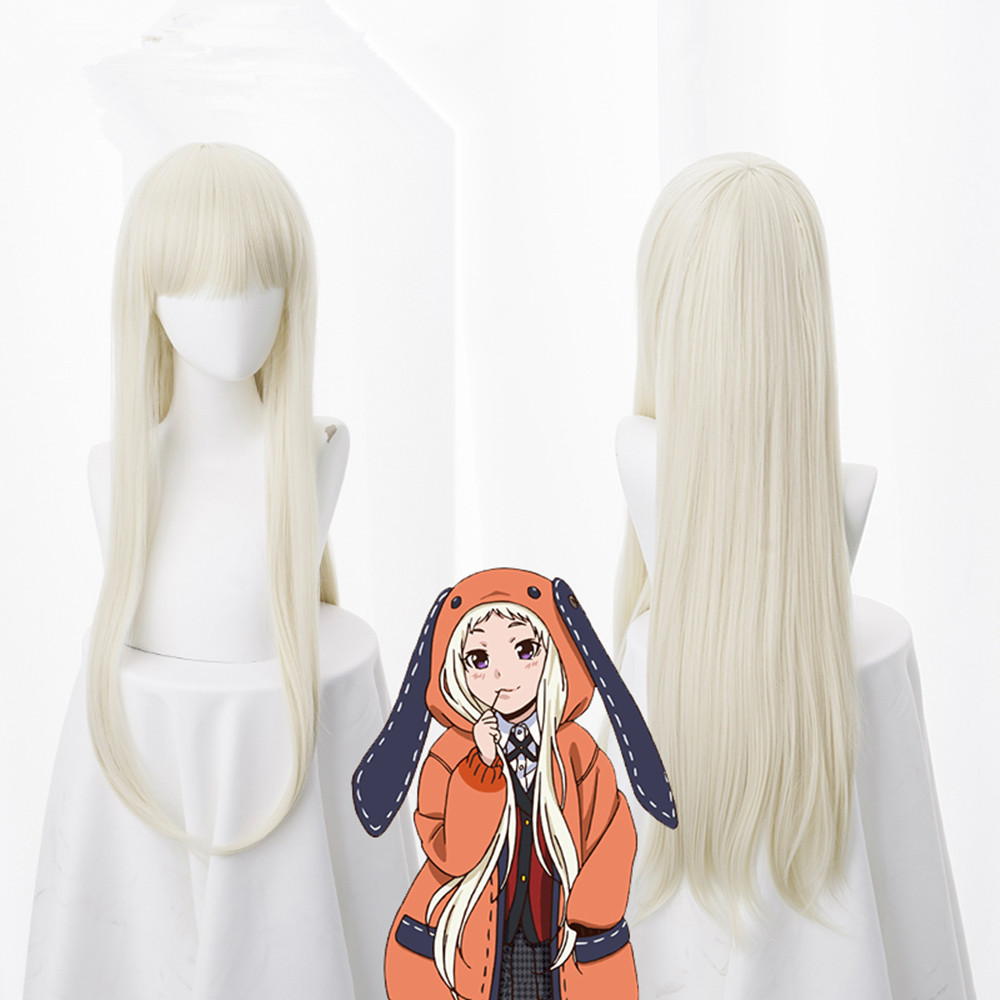 Anime Kakegurui Compulsive Gambler 2 Cosplay Wigs Yomoduki Runa Cosplay Wigs Heat Resistant Synthetic Wig Halloween Party