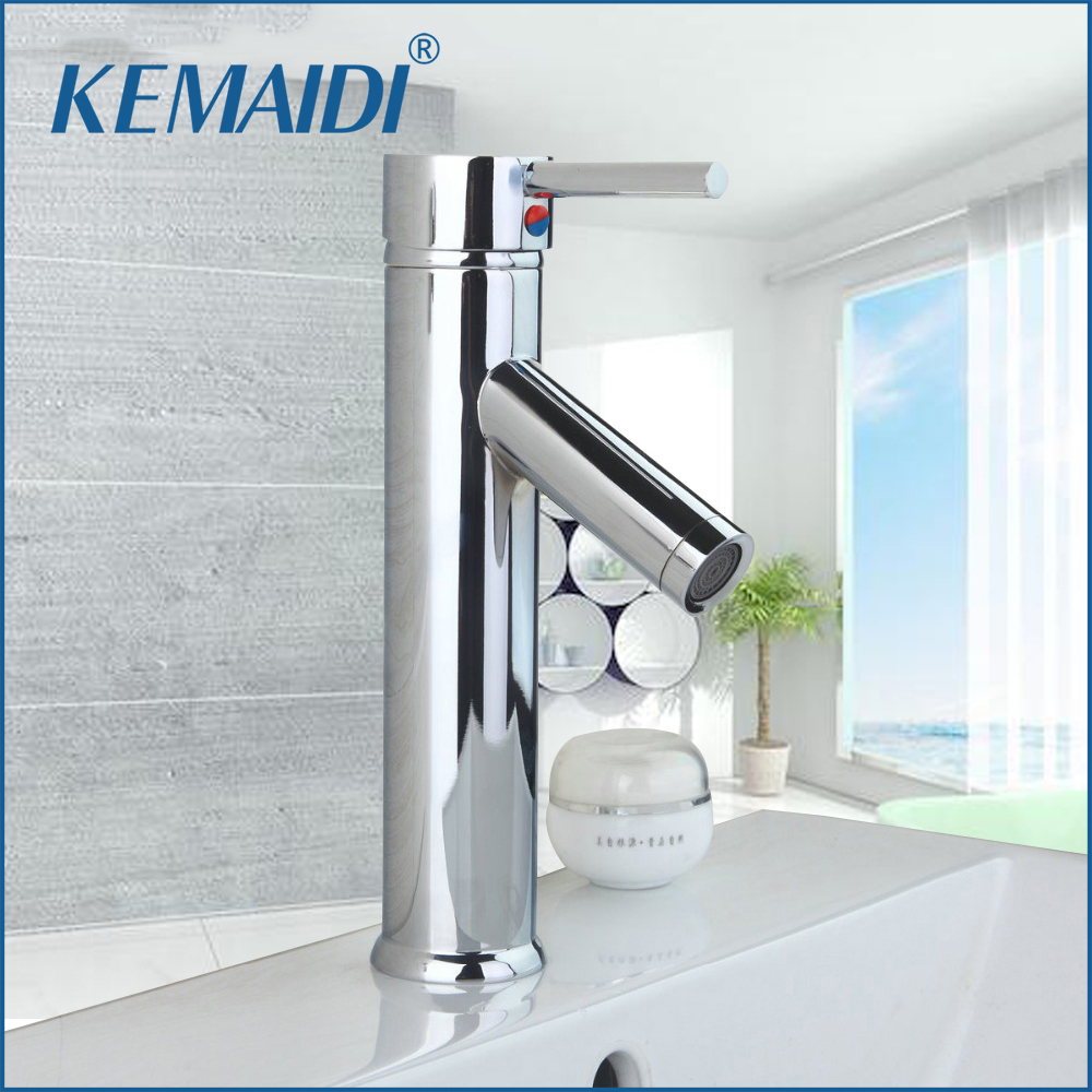 KEMAIDI DE New Arrival Deck Mount Bathroom Waterfall Basin Sink Chrome Single Handle Vessel Vanity Torneira Mixer Tap Faucet led waterfall bathroom basin faucet dual handle vanity sink mixer tap deck mount
