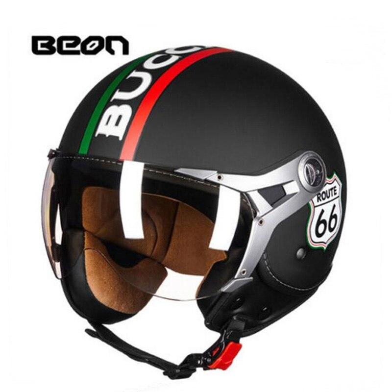 2018 Autumn Winter New Netherlands Band BEON 34 Open Face Motorcycle helmets ABS motorbike helmet of PC Visor Lens size M L XL