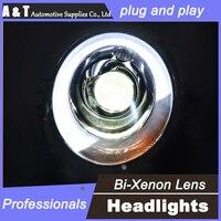 car styling For BMW MINI headlights U angel eyes DRL 2014-2015 For BMW MINI LED light bar DRL Q5 bi xenon lens h7 xenon