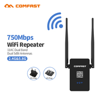 Comfast CF WR750AC V2 750Mbps Wireless WIFI Repeater WIFI Router Dual 2 5dBI External Antennas WiFi
