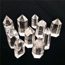 10 шт., большие натуральные прозрачные кварцевые лечебные точки, кристальная башня, прозрачные рейки фэн шуй, высокое качество