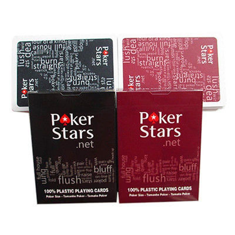 1 Set Poker Stars Texas HoldEm Plastic Playing Cards Waterproof Frosting Poker Card Pokerstar Board Game