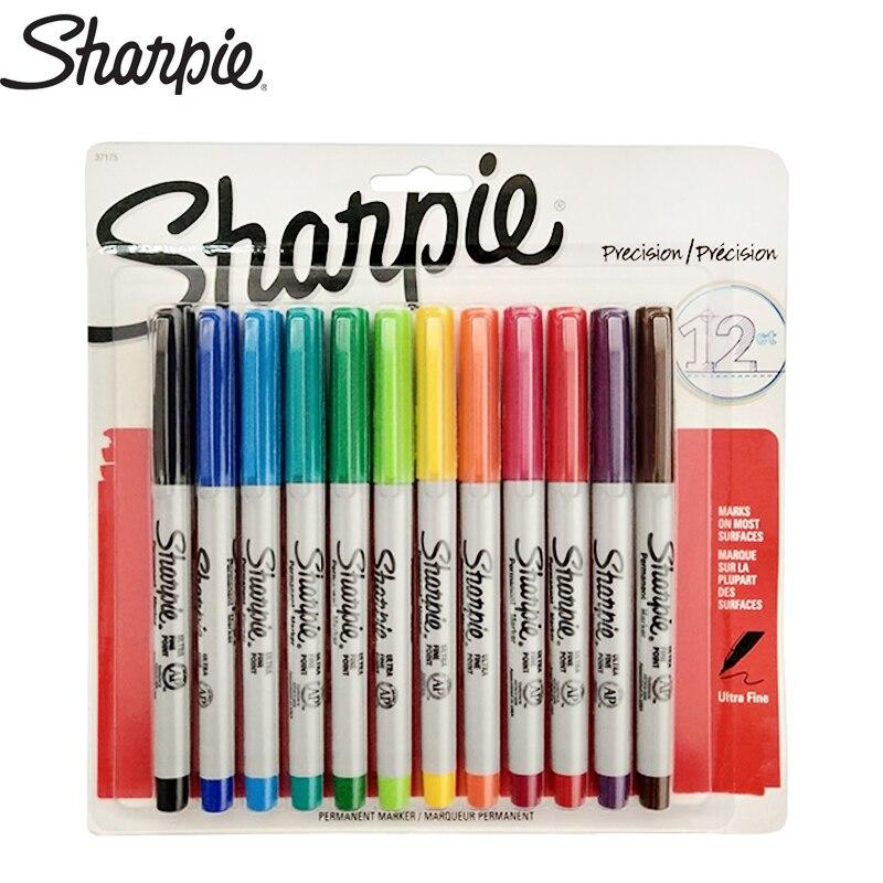 Sharpie 12 Color 0.5MM Dust Free Marker Pen Marking Pen Sharpie 37175 Marker Color Set Permanent MarkerSharpie 12 Color 0.5MM Dust Free Marker Pen Marking Pen Sharpie 37175 Marker Color Set Permanent Marker