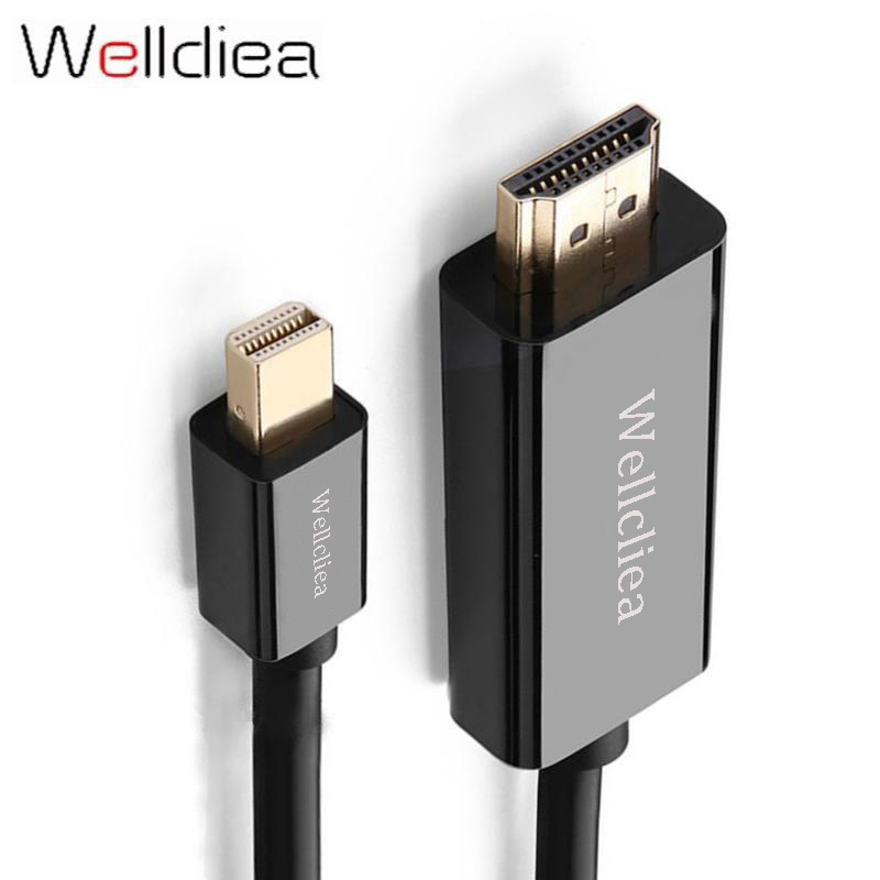 цена WelldieaThunderbolt 1/2 Mini Displayport to HDMI Cable Adapter Mini DP to HDMI Converter Cable to HDMI Cable Adapter 4K*2K 3D