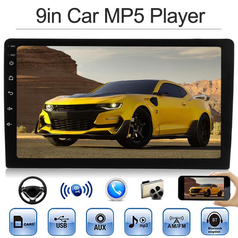 9-дюймовый 1Din в тире Bluetooth стерео MP5 плеер AUX In FM радио головное устройство HD 800*480 Мультимедиа Стерео MP5 плеер новый