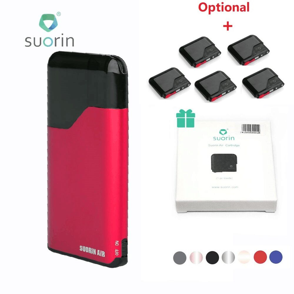 Original Suorin Air Starter Kit 400 mAh Eingebaute Batterie W/2 ml Patrone Tragbare Größe & Power Anzeige Licht e-cig Vaping Kit