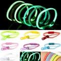 10pcs/lot Glow in Dark Fluorescent Zipper Bracelet Wristband Rainbow Personality Gifts for Women Men jewelry Kids Bangle