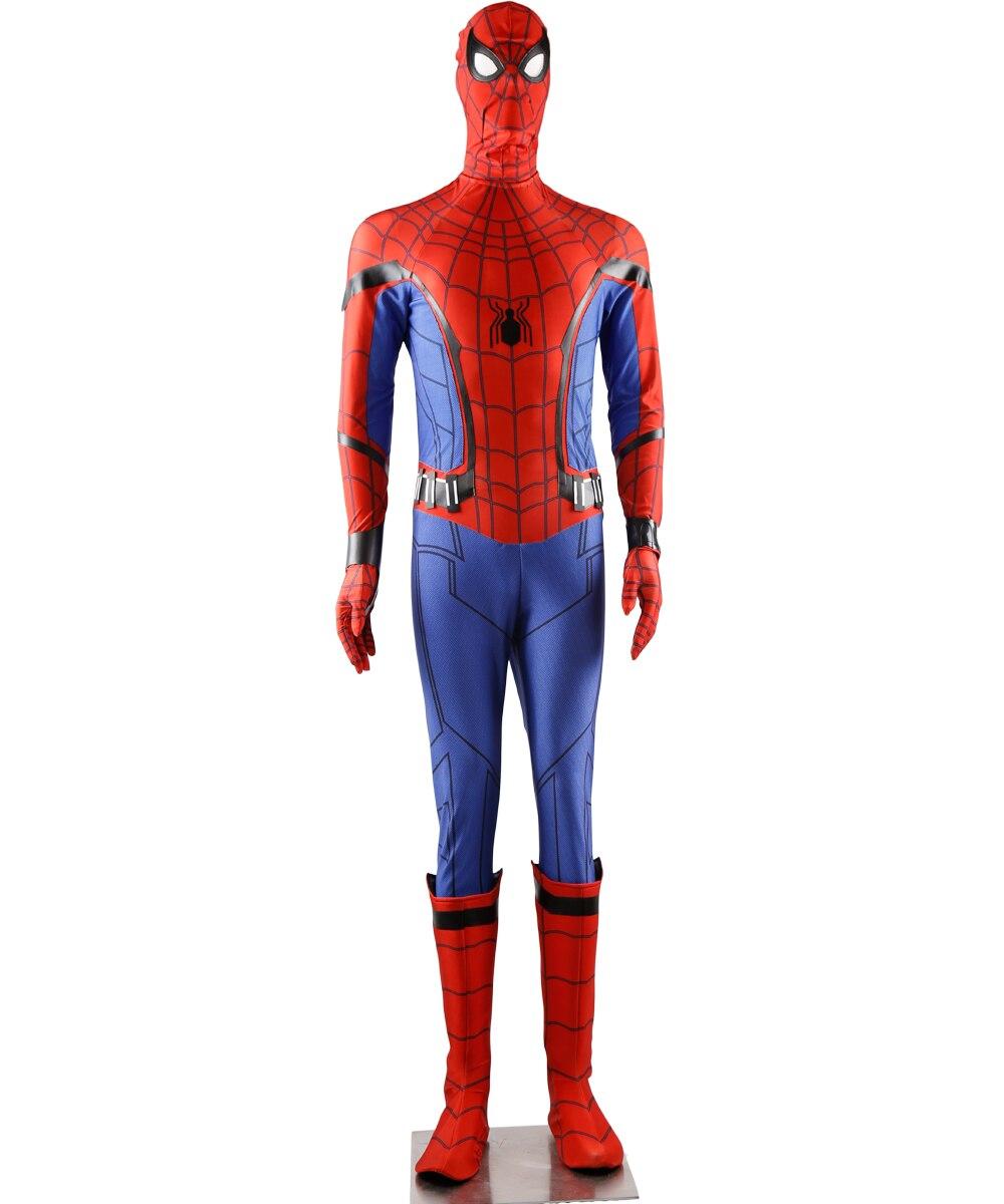 Человек паук: Homecoming Человек паук Питер Паркер Косплэй костюм полный комплект обуви в комплекте индивидуальный заказ унисекс для взрослых д