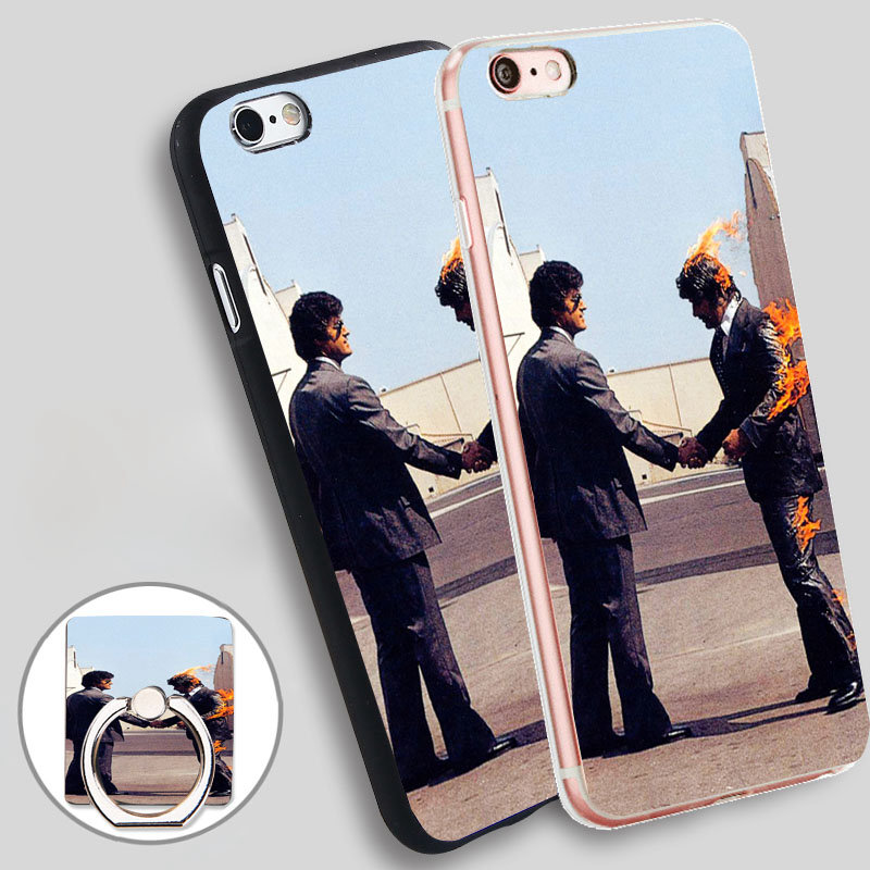 pink floyd on fire Soft TPU Silicone Phone Case Cover for iPhone 4 4S 5C 5 SE 5S 6 6S 7 Plus
