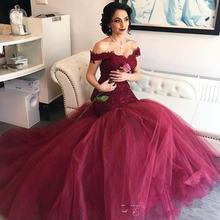 Элегантное кружевное платье Русалка для выпускного вечера длинные