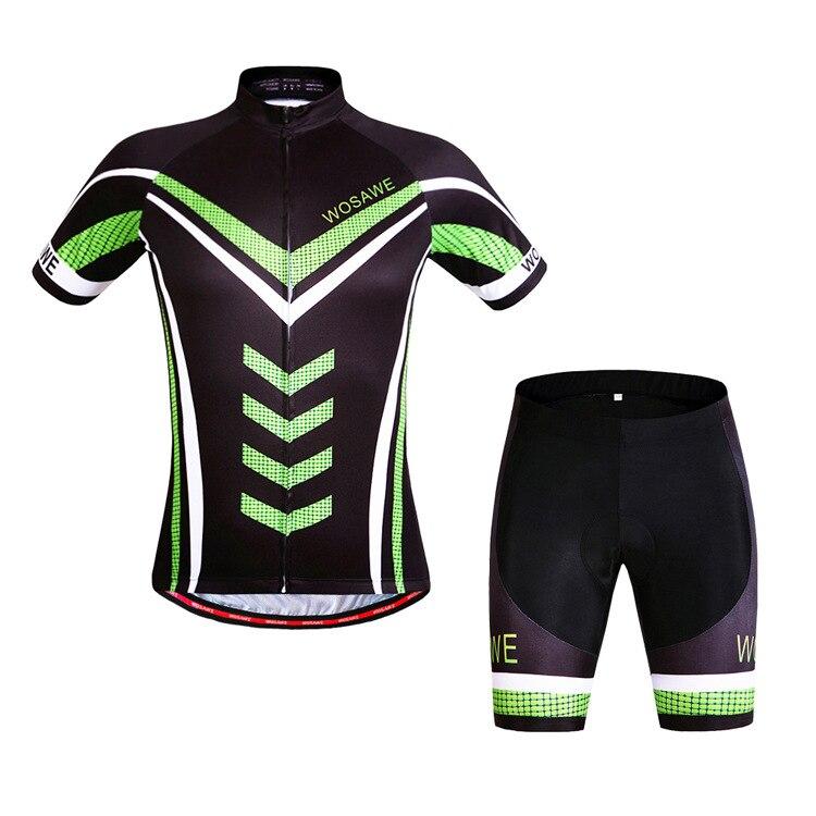 5f5c2577b1 WOSAWE Verão Ciclismo jerseys + shorts set 3D gel pad Quick Dry maillot  ciclismo Roupas de Ciclismo