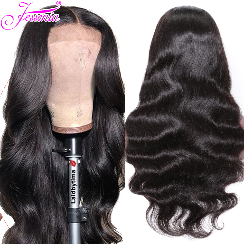 Brazilian Body Wave Lace Front Wig Pre Plucked Lace Frontal Wig Remy Hair 150% 13*4 Lace Front Human Hair Wig For Black Women