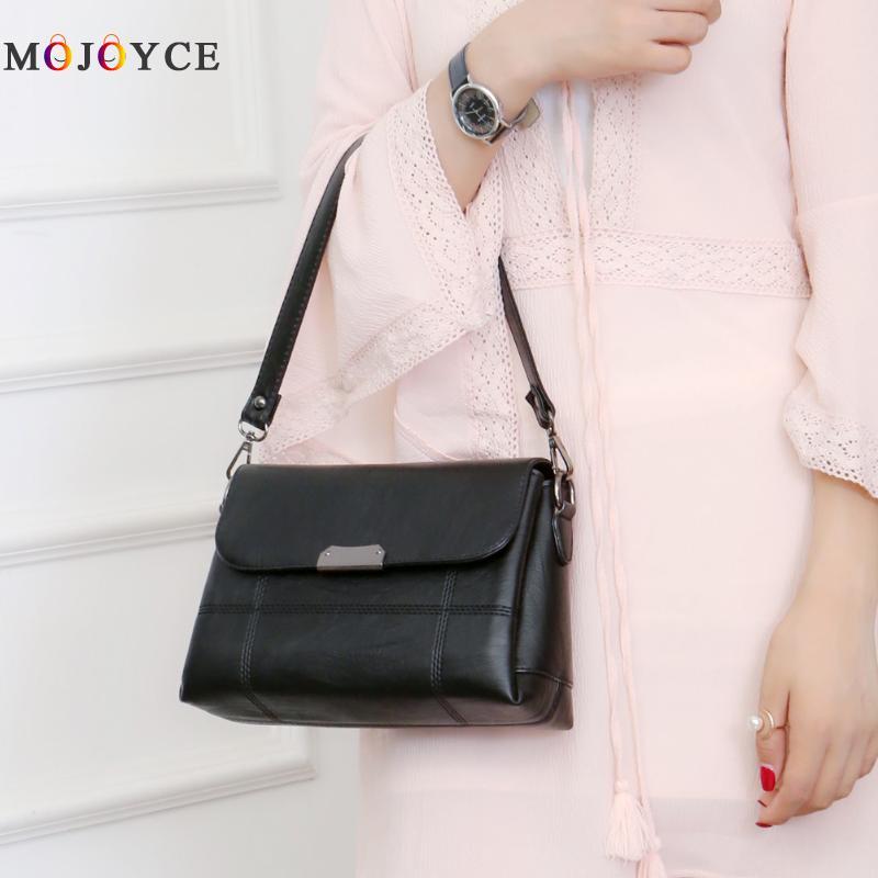 Vintage Designer Women Leather Handbags Adjustable Shoulder Bags Fashion  Ladies Crossbody Bag bolsa feminina-in Shoulder Bags from Luggage   Bags on  ... d54c39b198655