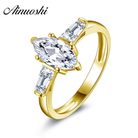 10K Gold Yellow Engagement Rings Sona Nscd Simulated Diamond Ring Jewelry Ring New Wedding Engagement Rings