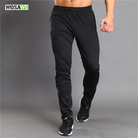 WOSAWE Men Running Pants Sportswear Fitness Legging Sports Multi Use Cycling Hiking Camping Fishing Biking Fitness