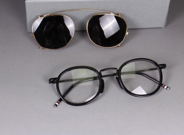 Marco Retro Gafas Hombres Mujeres Marcos de Anteojos Ópticos de Clip Polarizado en las gafas de Sol claro lenes Gafas Graduadas