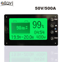 TF03 Large Screen 50V 500A Battery Capacity Tester Lead Acid Polymer / Lifepo4 Battery Capacity Coulomb Meter