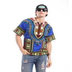 """2019 Африканский костюмы бросился для продажи продвижение Лен Традиционная рубашка """"Дашики"""" печатных футболки для мужчин большой ярдов"""