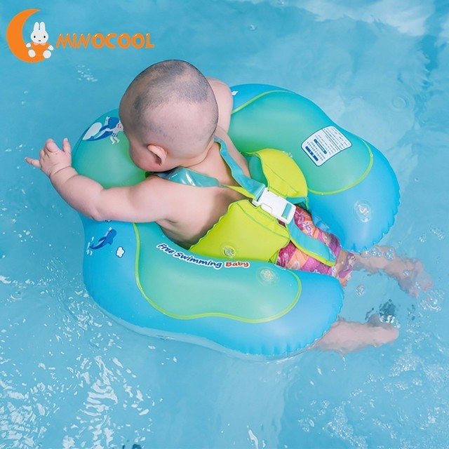a79f55b2da Infant Safety Inflation Swimming Ring Baby Kids Float Swimming Pool Toy for  Bathtub and Pools Swim