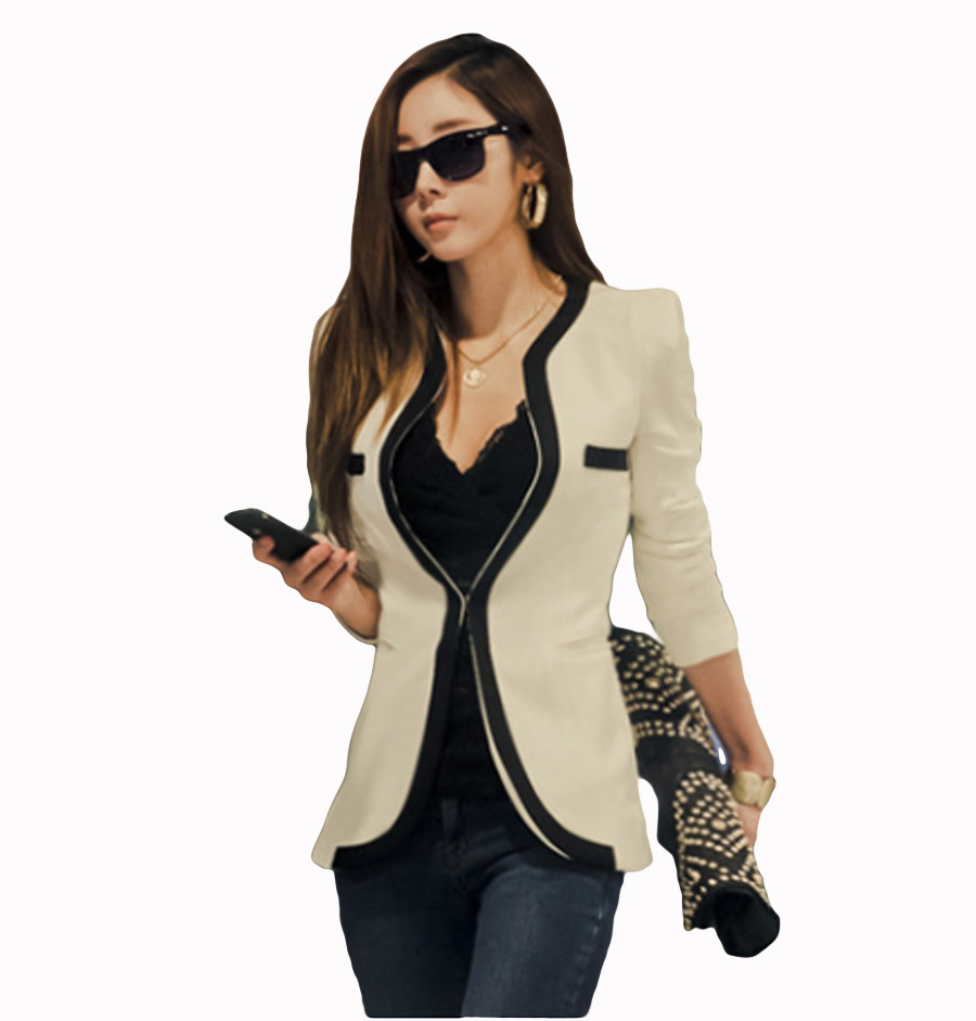 Flying ROC 2018 women long sleeve blazer girls black white blazer casual slim feminino office lady jacket suit women clothing