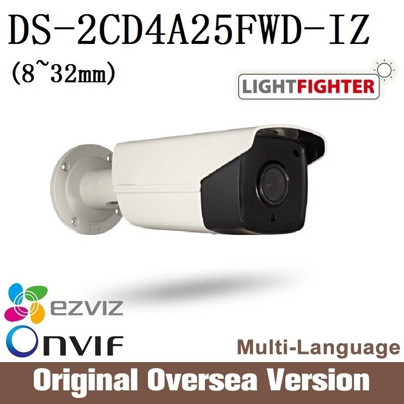 Hikvision DS-2CD4A25FWD-IZ 8-32mm Ip Camera Cctv 1080p Poe Ip67 smart IR WDR Onvif RJ45 Original English Version support upgrade hikvision ds 2cd4a25fwd iz 2mp smart ip camera cctv bullet 1080p poe ip67 ir english version h265 wdr onvif rj45 lightfighter