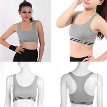 Plus Size Women Quick Dry Tight Compressed Pad Sports Bra