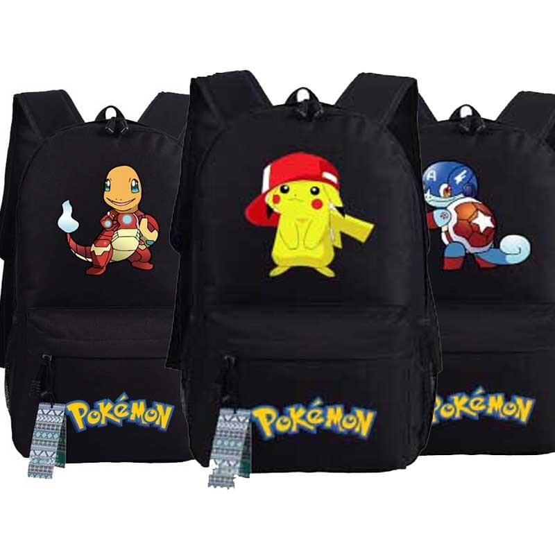 New Game Pokemon Go Squirtle Backpack oxford Pocket Monster Pikachu Gengar Schoolbags Fashion Unisex Travel Laptop Bag pokemon pikachu haunter eevee bulbasaur canvas backpack students shoulders bag pocket monster haunter schoolbags laptop bags