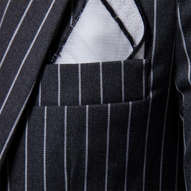 FFXZSJ Men 2018 Brand Fashion Single Button Suit Jacket Cotton Slim Fit Men Stripe Suit Coats Business Wedding Plus Size 4XL