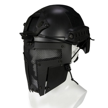Full Face Mask Metal Steel Net Mesh Mask Hunting Tactical Protective CS Halloween Party Cosplay Full Cycling Face Mask face mask