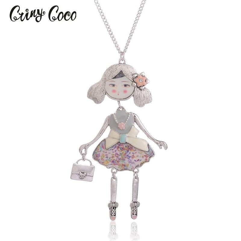 Cring Coco Halskette & Anhänger Trendy Emaille Zink-legierung Metall Charme Mädchen Anhänger Frauen Halskette Kette Frauen Schmuck Großhandel Produkte Werden Ohne EinschräNkungen Verkauft