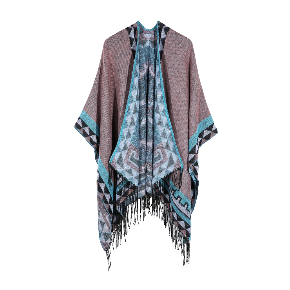 2018 quality women winter scarf fashion striped black beige ponchos and capes hooded thick warm shawls and scarves femme outwear
