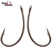 Easy Catch 100ks 8245 Ostnatý kapr Rybářské háčky Černý kruh Křivka Stopka Kapr Vlasové soupravy Rybářský háček Velikost 2 4 6 8